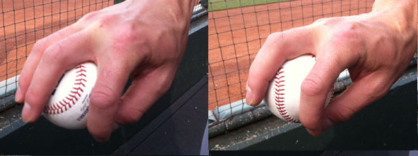 The Old Four-Seam Change-Up (left) and the New Two-Seam Change-Up (right).